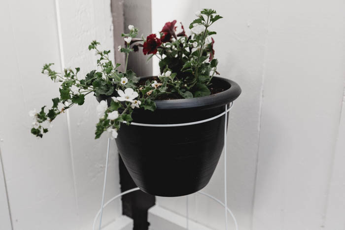 standing modern outdoor DIY planter