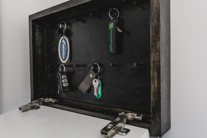 hooks for hidden key rack