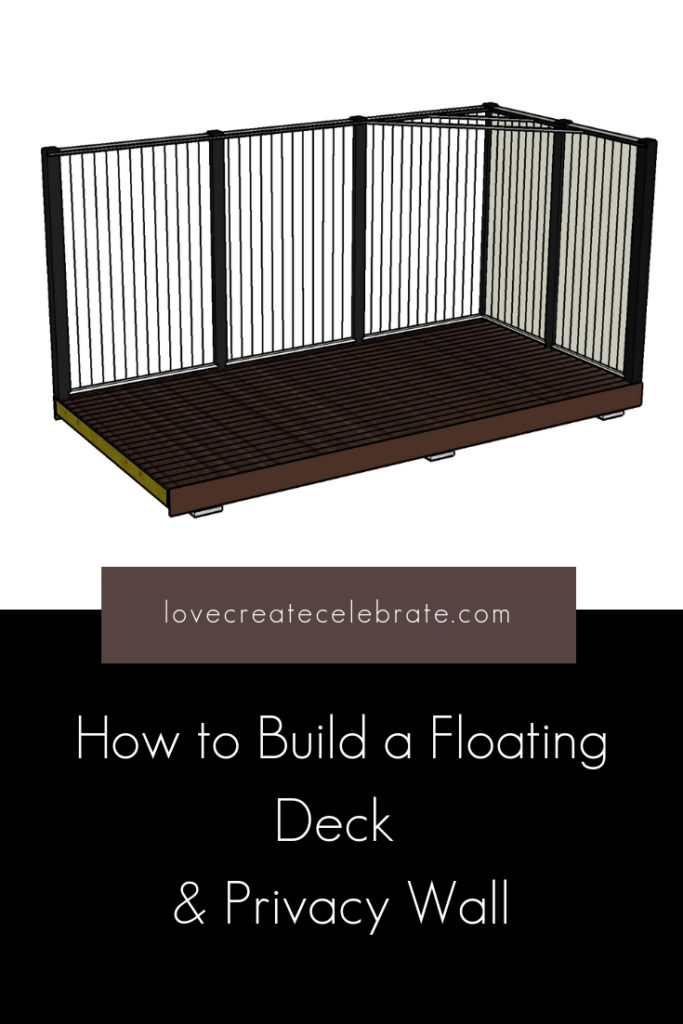 How to Build a Floating Deck with buiold drawings