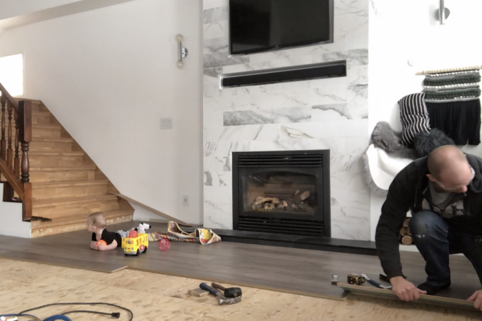 how to lay laminate flooring in a living room