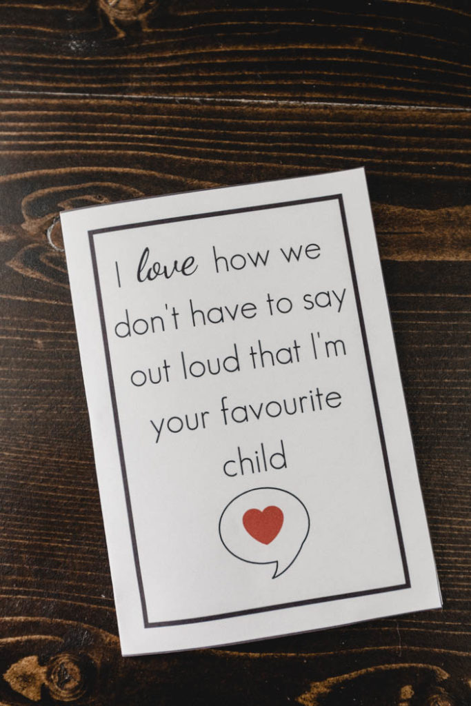 Free printable funny mother's day car
