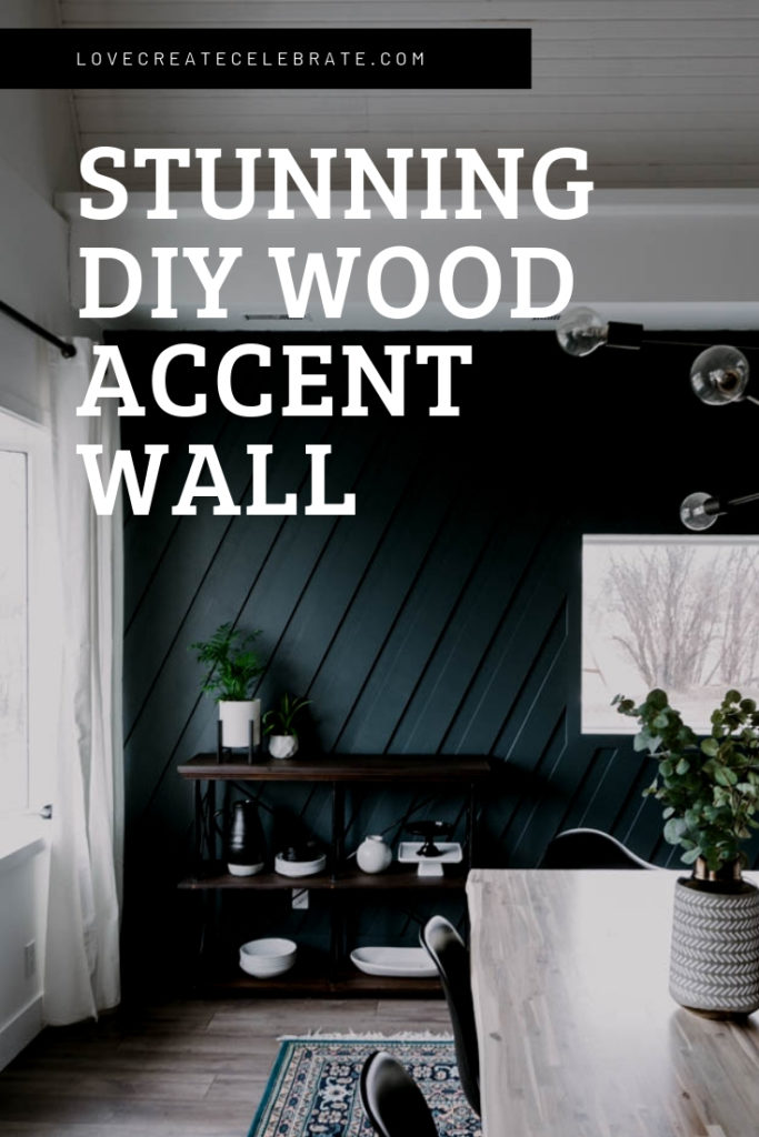 "Moulding Accent Wall Photo with text overlay reading ""Stunning DIY Wood Accent Wall"""