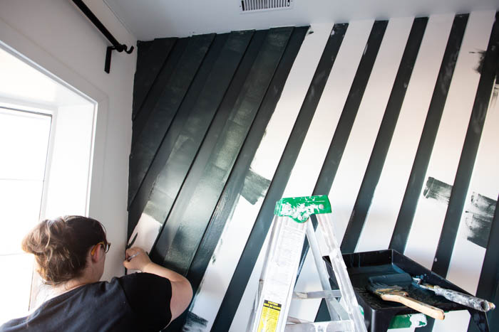 painting a moulding accent wall