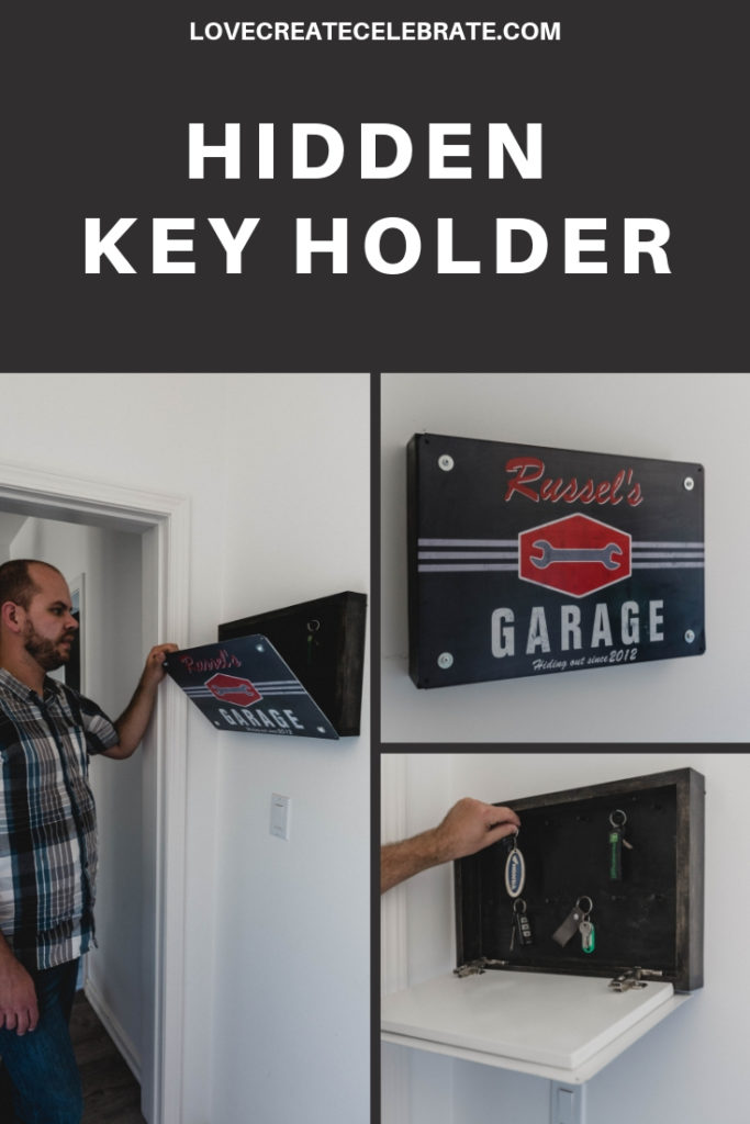 "collage of key holder photos with text overlay reading ""Hidden key holder"""
