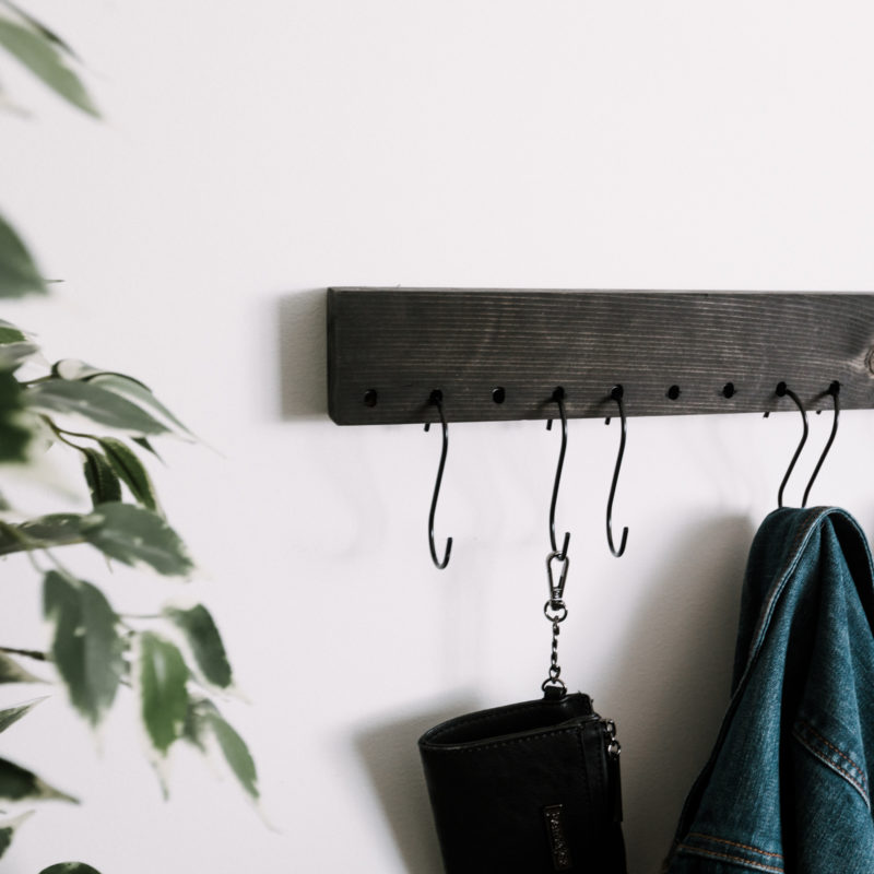 DIY S Hook wall mounted coat rack