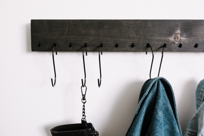 coat rack with S hooks