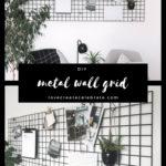 Metal Wall Grid vision board