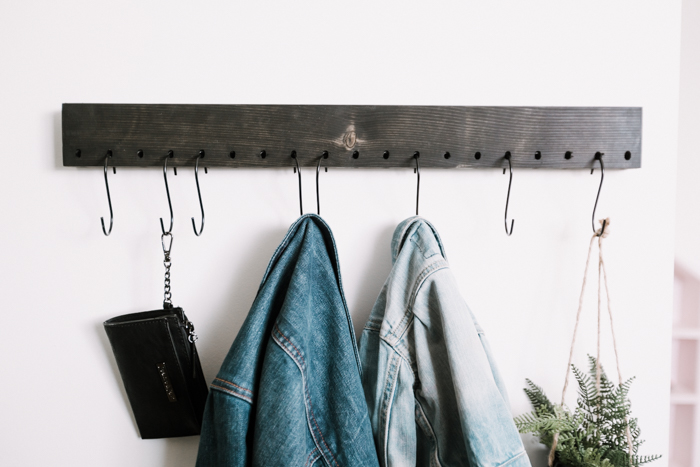 making a DIY coat rack with a shelf pin jig