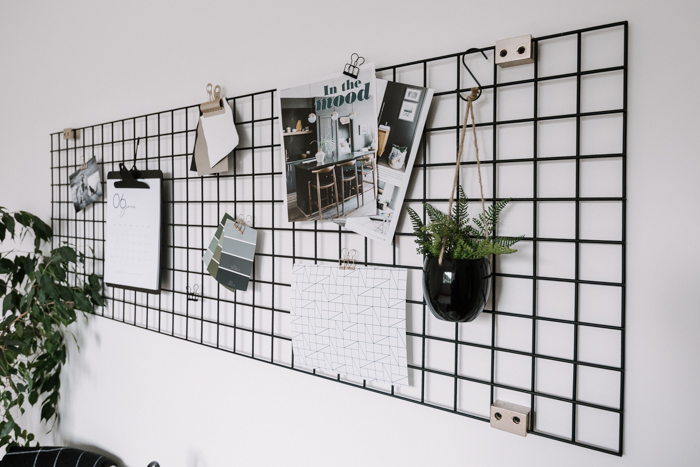 grid board for the bedroom or dorm
