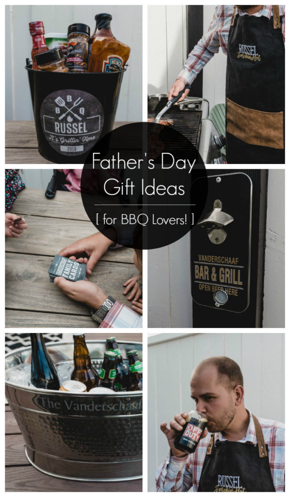 "collage of gift ideas for men with text overlay reading ""Father's Day gift ideas"""