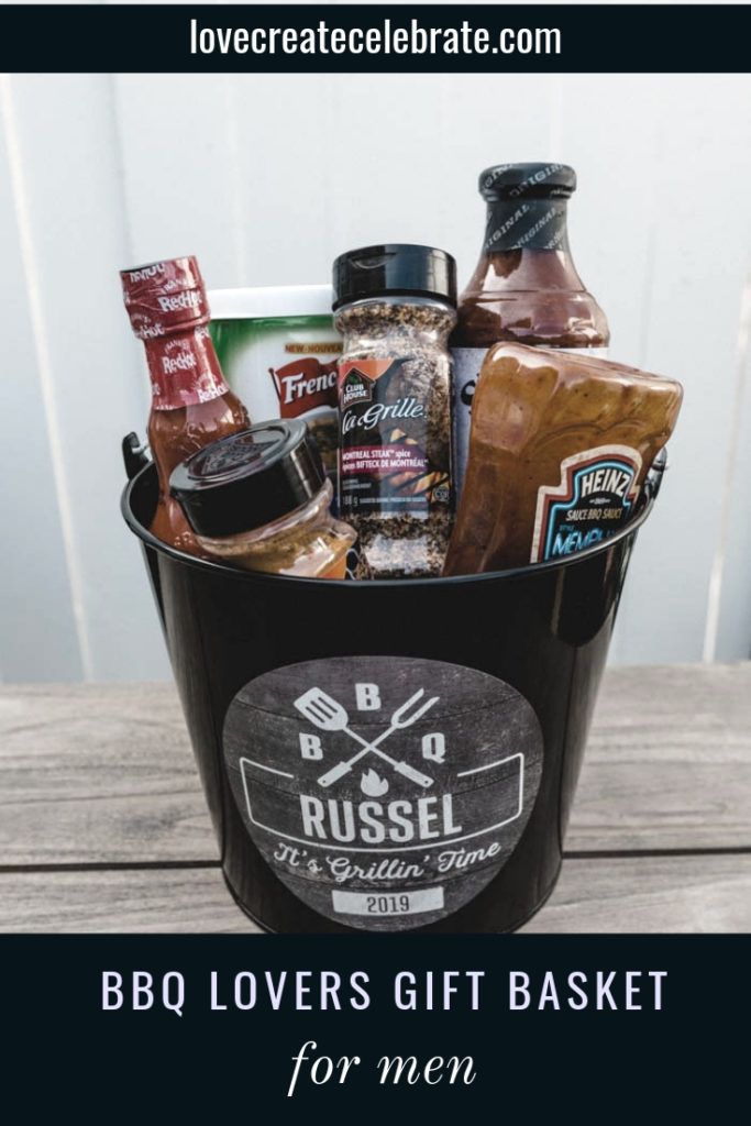 Personalized BBQ gift bucket
