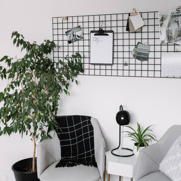 DIY monochrome office design