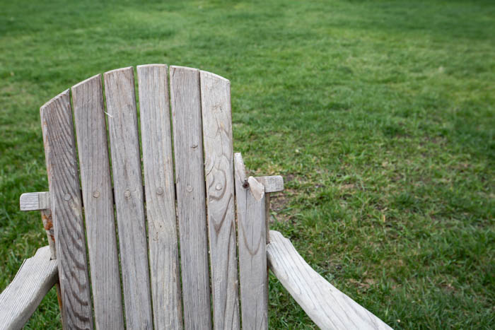 fixing a broken adirondack chair
