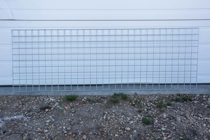 leftover metal grid shelf