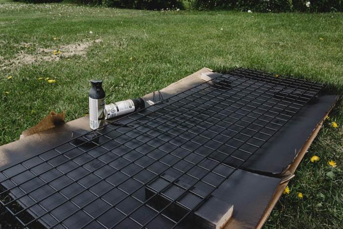 DIY metal grid board