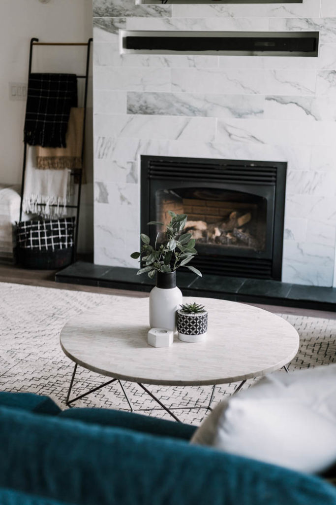 modern coffee table styling for summer