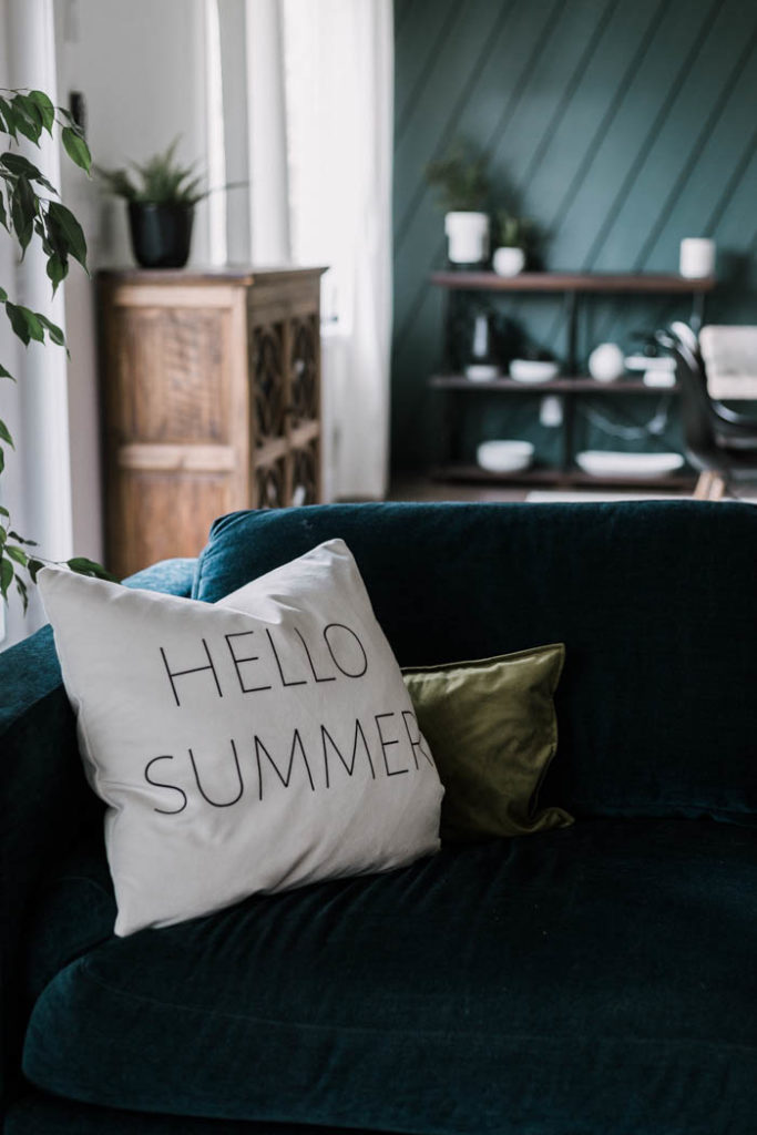Hello summer modern pillow design