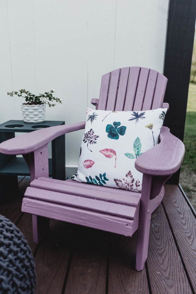 painted muskoka chairs for little girls