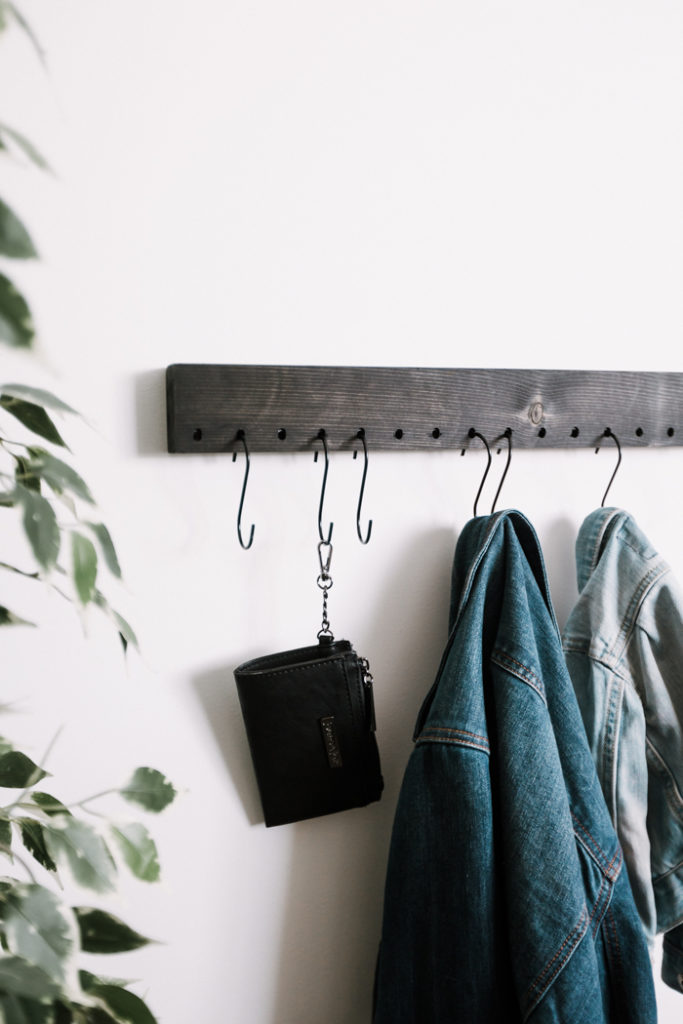 DIY coat rack for a small space