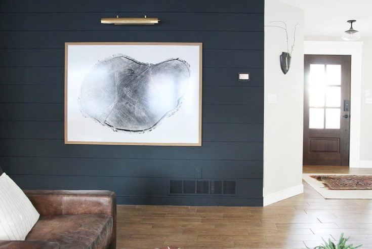A Dark Shiplap Accent Wall