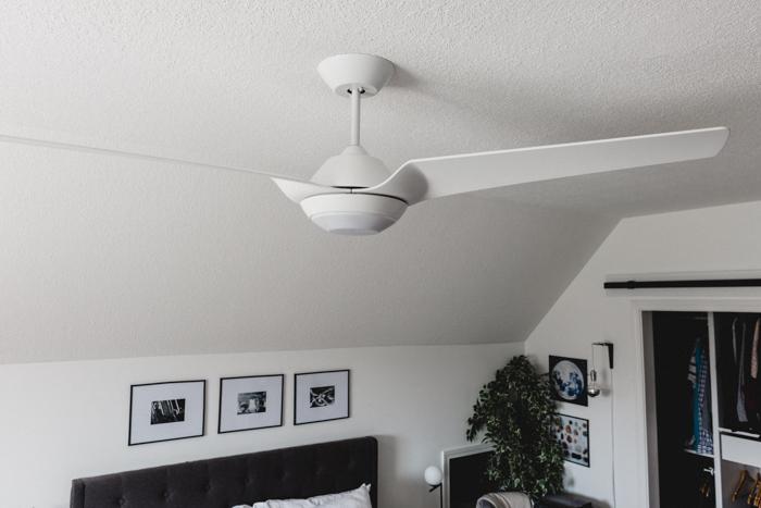 modern white fan