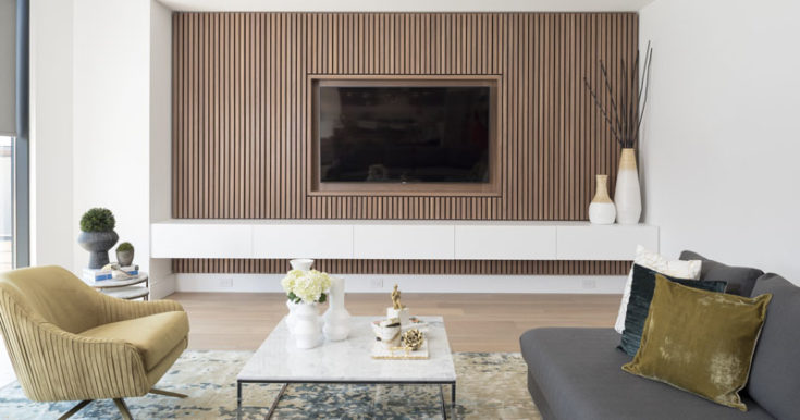 A Wood Slat Accent Wall