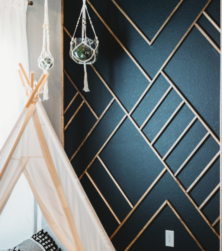 DIY Wood Molding Wall Design