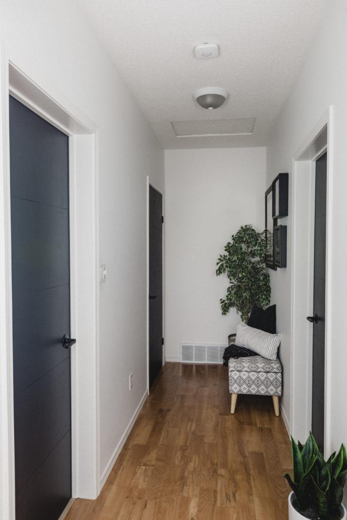 dark hallway doors