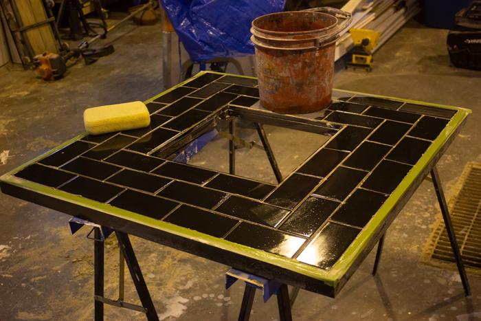 Tiling a DIY Fire Pit