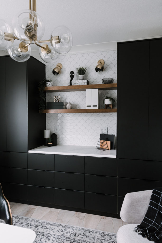 Beautiful IKEA office shelves