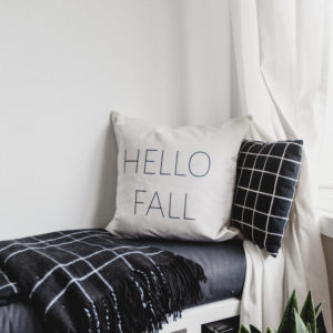 Modern Hello Fall Pillow