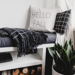 Modern Hello Fall Pillow