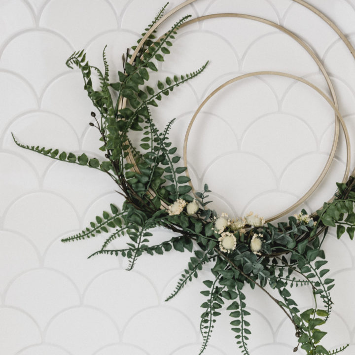 DIY Modern Fall Wreath