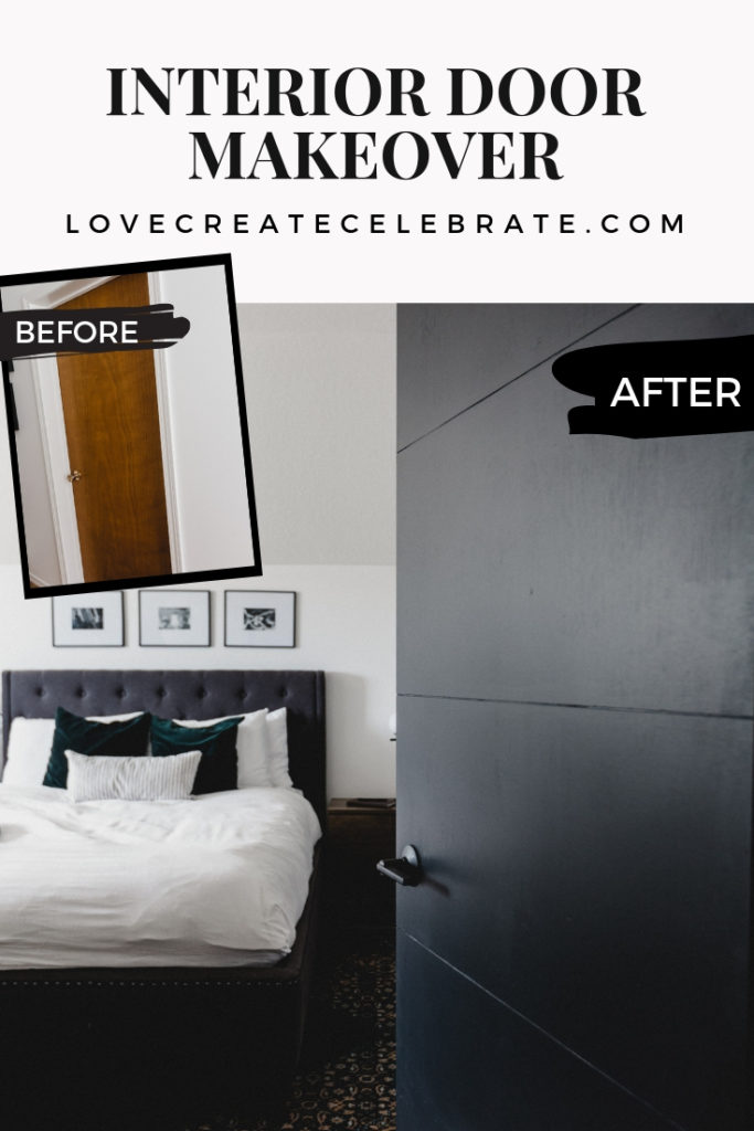 Beautiful interior door makeover before and after photos