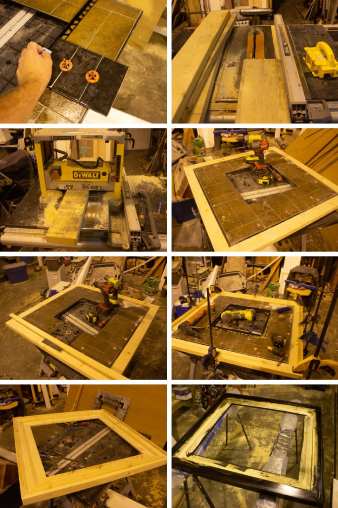 building a custom frame for a fire pit