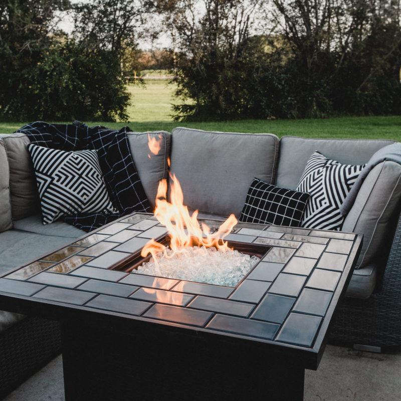 Stunning modern fire pit