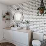 gorgeous tiled bathroom with subway tile
