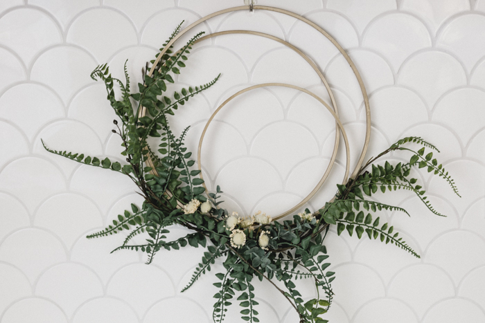 Gorgeous modern fall wreath
