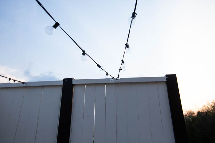 how to hang string lights on the deck