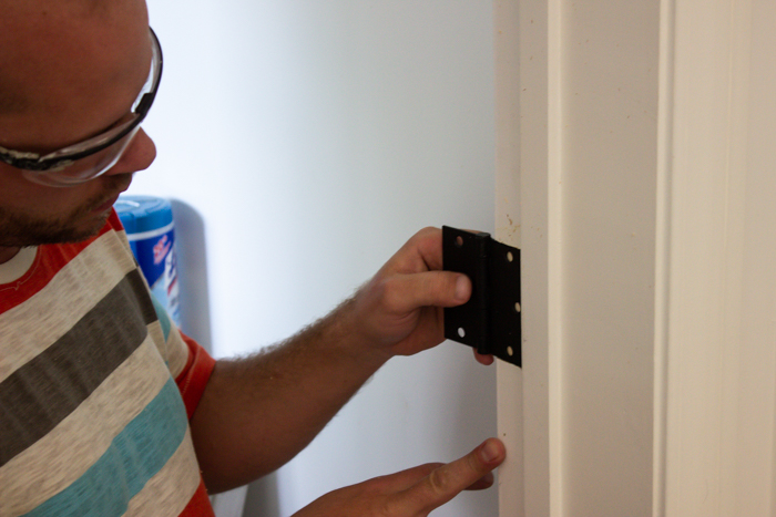 how to install an interior door with new hinges