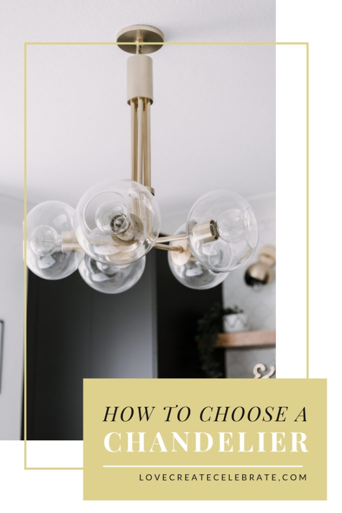 "Gorgeous My Mitzi Chandelier with text overlay reading ""How to Choose a Chandelier"""