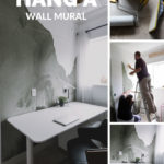 How to hang a wall mural collage