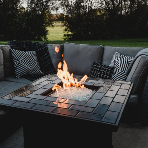 Beautiful outdoor fire pit area