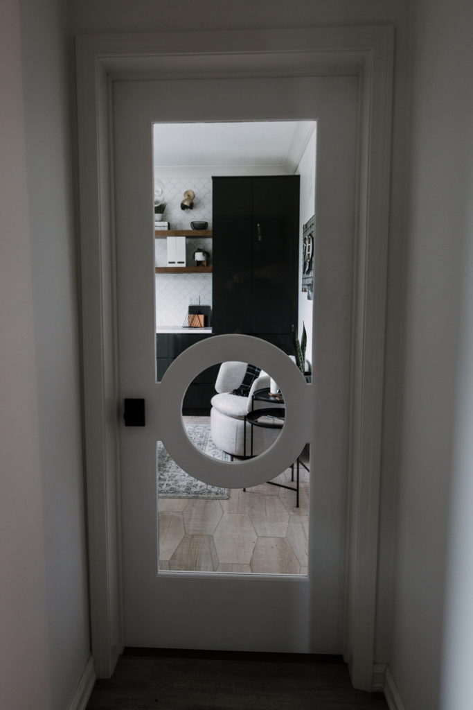a beautiful modern interior door