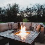 Stunning modern DIY fire pit