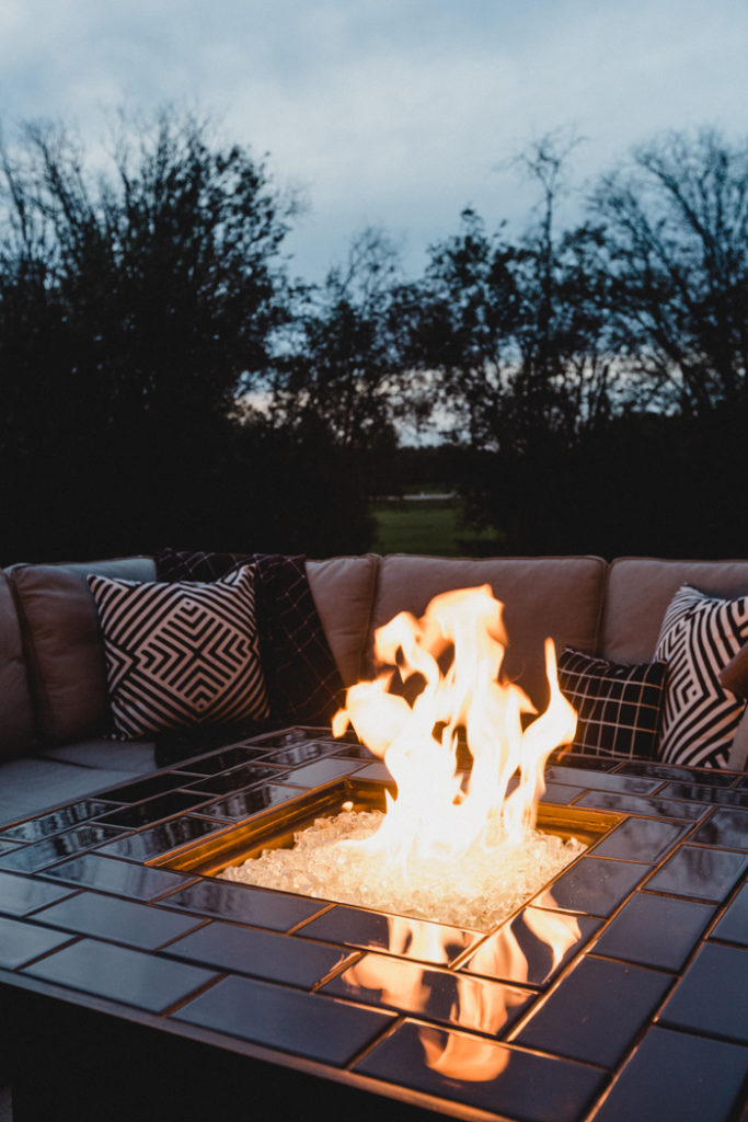 Beautiful backyard fire pit