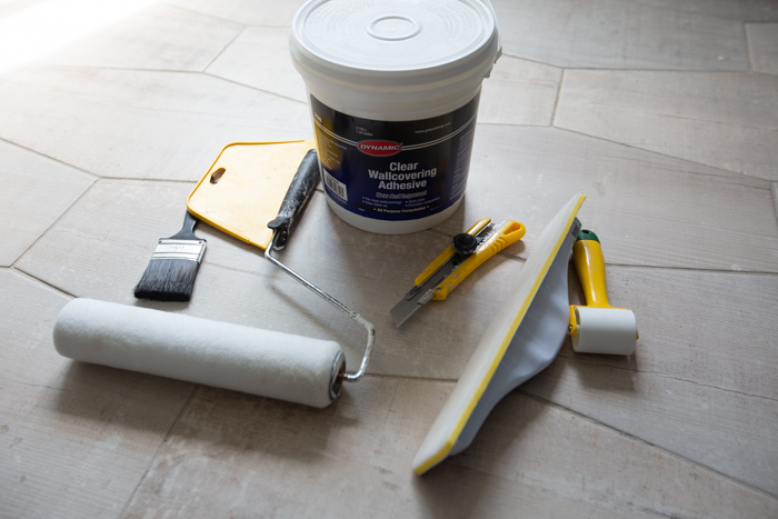 tools needed to hang a wall mural