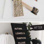DIY Letter Board with dollar store supplies
