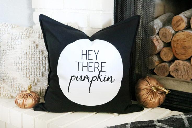 DIY Black & White Fall Inspired Pillow