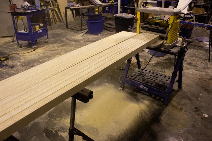 Planing wood pieces for DIY Desktop